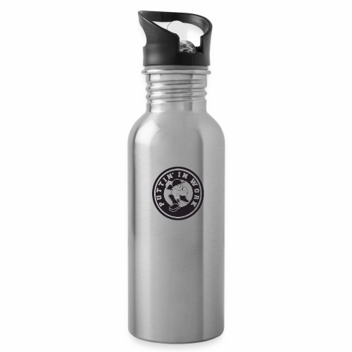Solid Puttin' In Work Logo - Water Bottle
