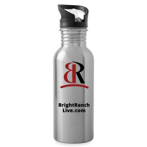 BRLogoLineRedBlack - Water Bottle