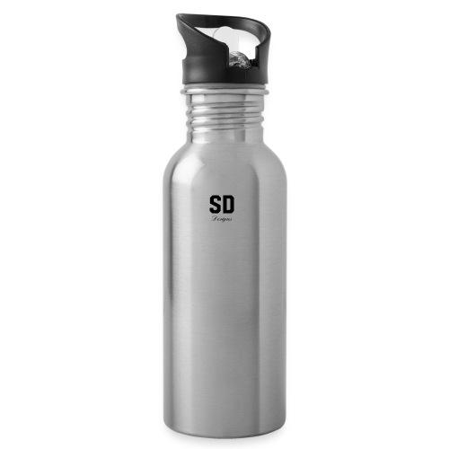 SD Designs blue, white, red/black merch - Water Bottle