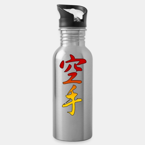 Karate Kanji Red Yellow Gradient - Water Bottle