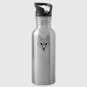 Lineart of a wolf / wolf transparent - Water Bottle