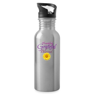 Thankful grateful blessed - Water Bottle