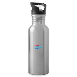 Love Trumps Hate - Water Bottle