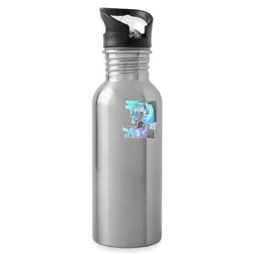 Cute anime blue girl Aqua - Water Bottle