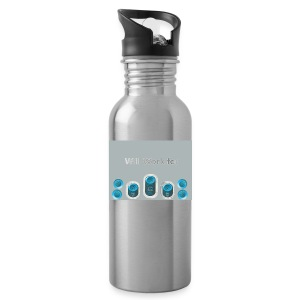 Will_work_for_buttons - Water Bottle