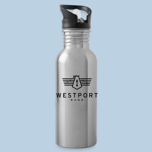 Westport Band Back on transparent - Water Bottle