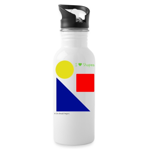 Hi I'm Ronald Seegers Collection-I Love Shapes - Water Bottle