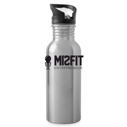 official misfit logo blac - Water Bottle