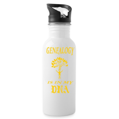 genealogy is in my dna funny birthday gift yellow - Water Bottle