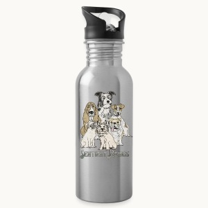 DOGS-SENTIENT BEINGS-white text-Carolyn Sandstrom - Water Bottle