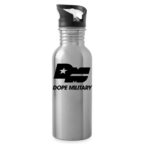 DOPE MILITARY LOGO BLK CLEAN - Water Bottle