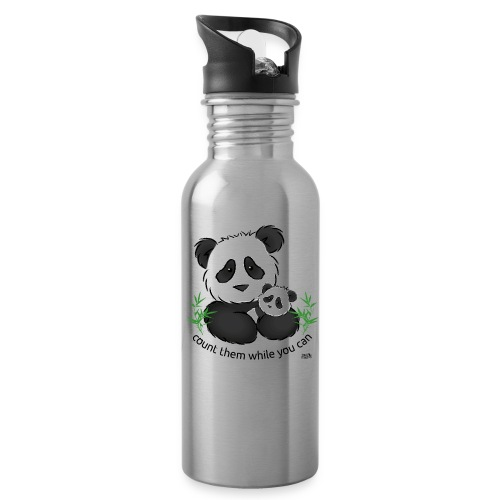 SnuggleCoats_panda - Water Bottle