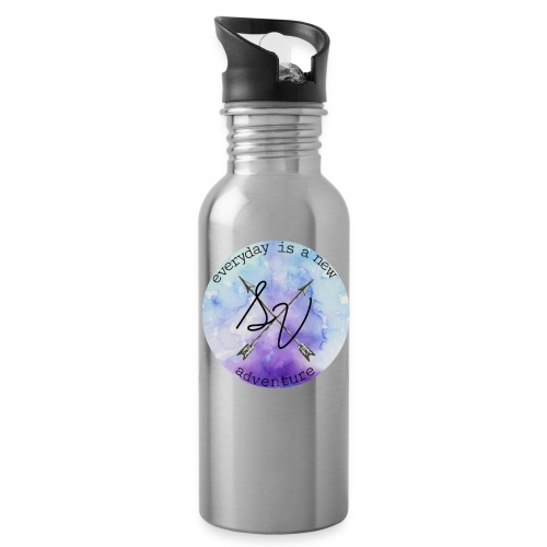 everyday is a new adventure logo - Water Bottle