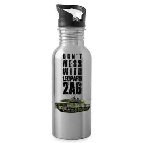 dont mess with leopard 2a6 rc tank - Water Bottle