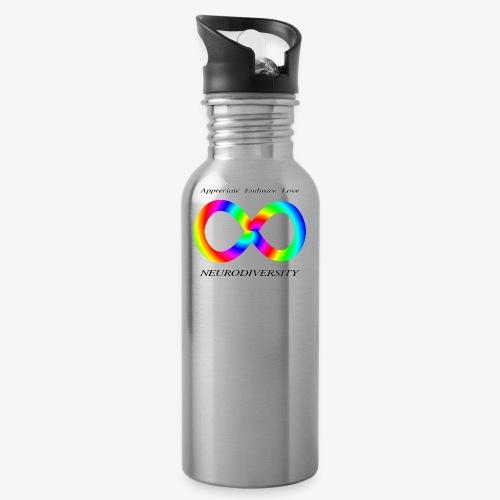 Embrace Neurodiversity with Swirl Rainbow - Water Bottle