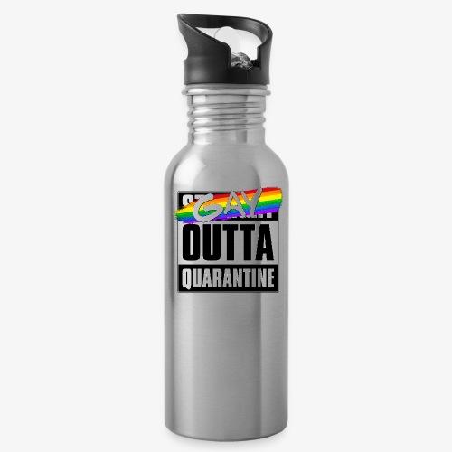 Gay Outta Quarantine - LGBTQ Pride - Water Bottle