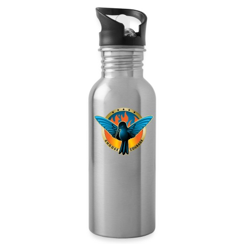 Choose Courage - Fireblue Rebels - Water Bottle