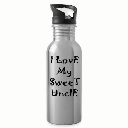 I love my sweet uncle - Water Bottle