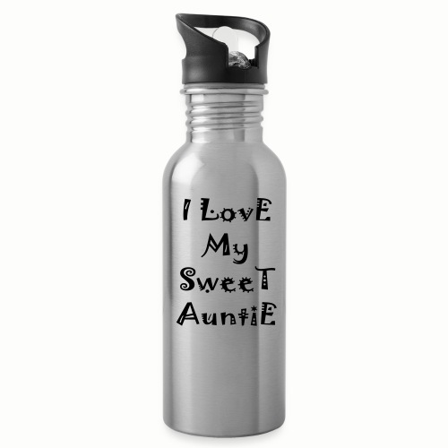 I love my sweet auntie - Water Bottle