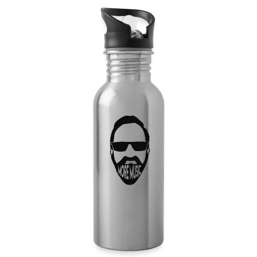 Joey D More Music front & back image color options - Water Bottle