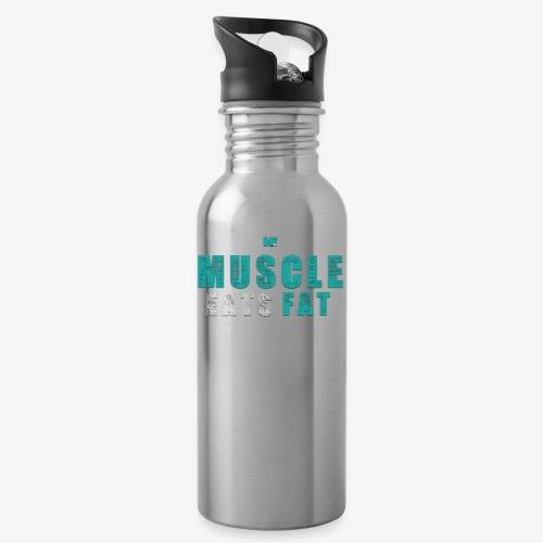 Muscle Eats Fat (Aqua White) - Water Bottle