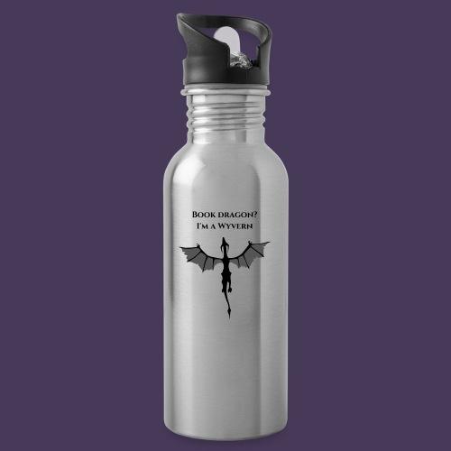 Book Dragon? I'm a Wyvern (black) - Water Bottle
