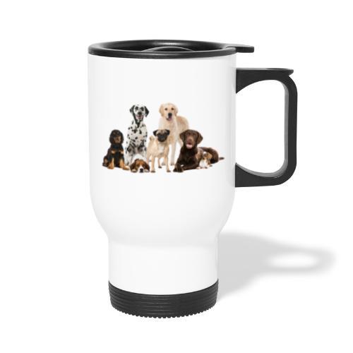 German shepherd puppy dog breed dog - Travel Mug with Handle