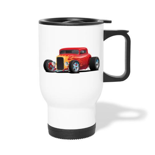 Classic Bold Red Custom Street Rod - Travel Mug