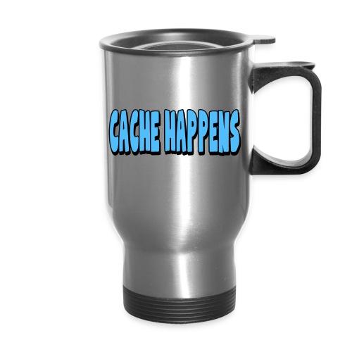 cache happens 7x3 300dpi png - Travel Mug