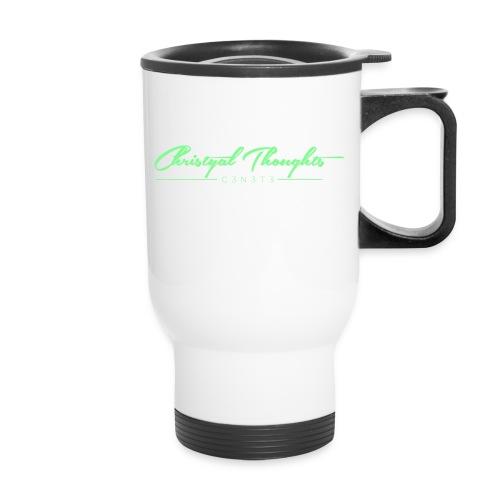 Christyal Thoughts C3N3T31 Lime png - Travel Mug