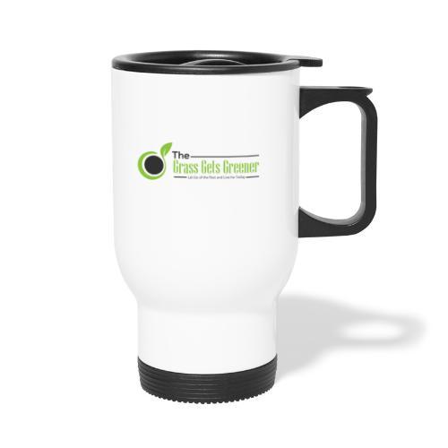 The Grass Gets Greener Logo w/ Text - Travel Mug