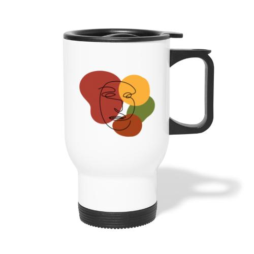 abstract minimalist face - Travel Mug