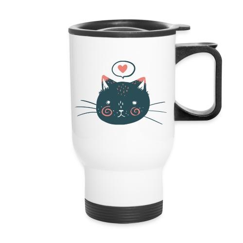 Cat Face by Kelsey King - Travel Mug