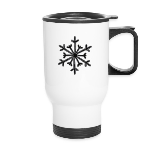 BLACK SNOWFLAKE - Travel Mug