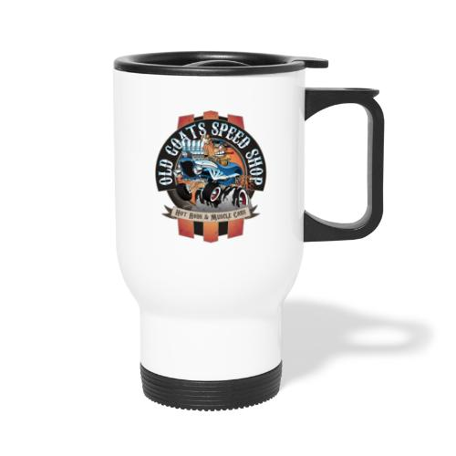 Old Goats Speed Shop Vintage Car Sign Cartoon - Travel Mug