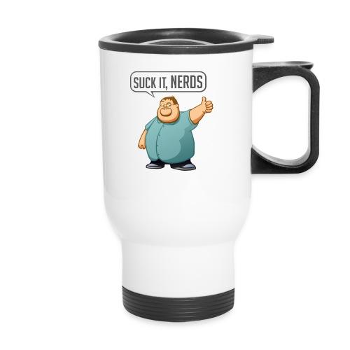 boogie suckitnerds - Travel Mug