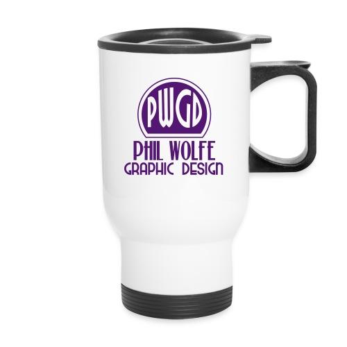 pwgd logo white - Travel Mug