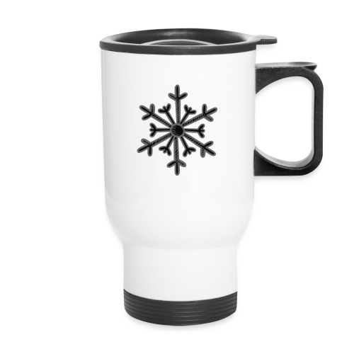 BLACK SNOWFLAKE - Travel Mug