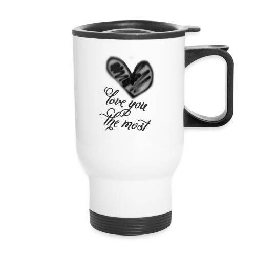 love-the-most - Travel Mug