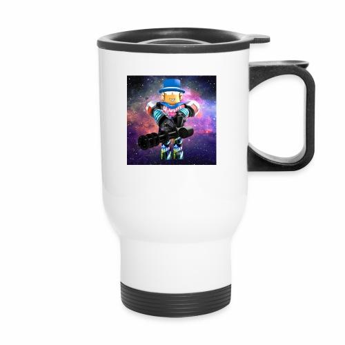 sean roblox character with minigun - Travel Mug