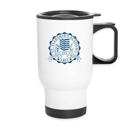 stv crest navy lmdesigns - Travel Mug