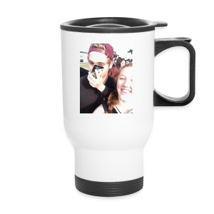 Luke Hemmings with a phone in his face - Travel Mug