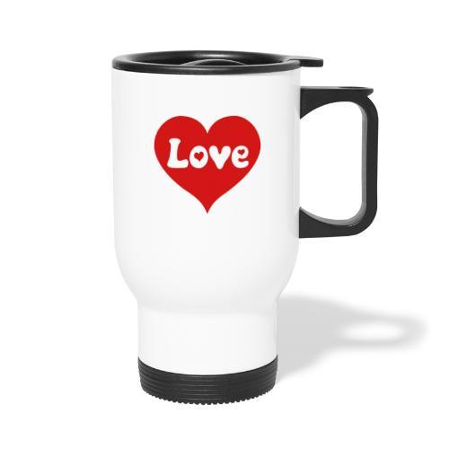 Love Heart - Travel Mug with Handle