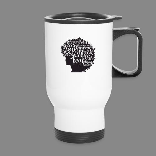 Afro Text II - Travel Mug