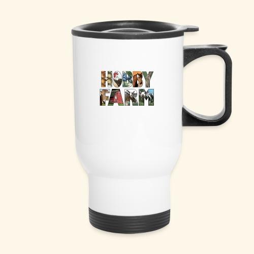 Island Hobby Farm White Logo - Travel Mug