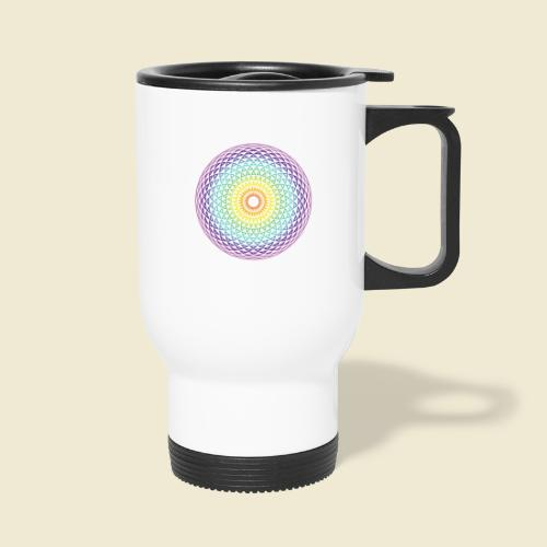 Torus Yantra Hypnotic Eye rainbow - Travel Mug