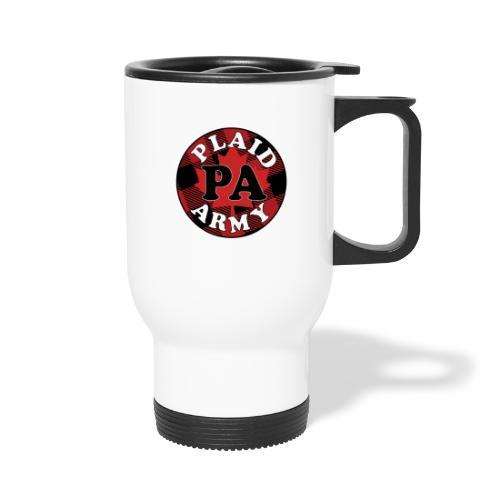 plaid army round - Travel Mug