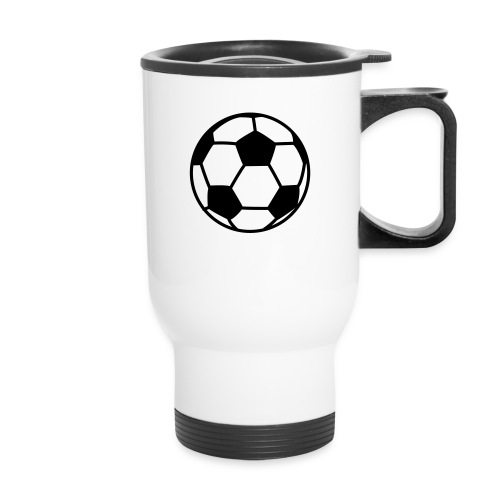 custom soccer ball team - Travel Mug
