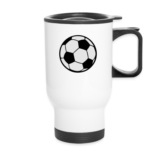 Custom soccerball 2 color - Travel Mug