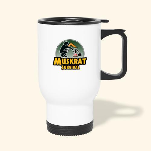 Muskrat round logo - Travel Mug